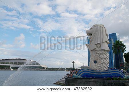 Merlion statue, Singapore, February 12, 2013
