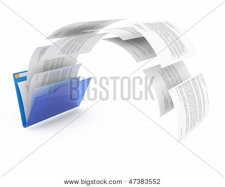 Documents From Blue Folder.