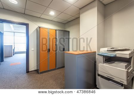 Office Room With Xerox Machine