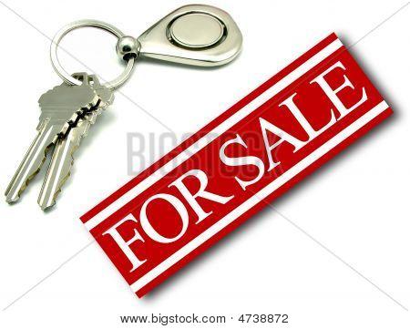 For Sale Sign House Keys