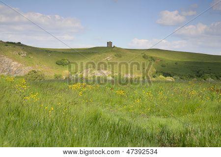 hillside at Uphill near Weston Super Mare in Somerset