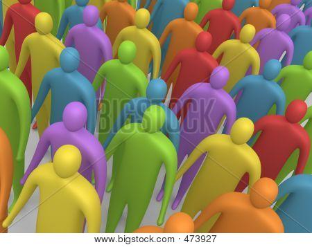 Multicolored Crowd #4