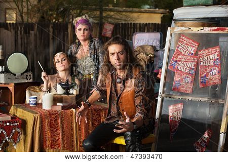 Angry Man With Fortune Tellers