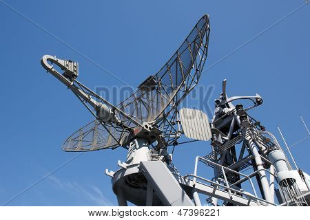 Radar On Military Ship