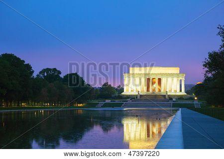 The Abraham Lincoln Memorial In Washington, Dc