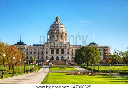 Minnesota Capitol Building In St. Paul, Mn