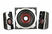 stock photo of subwoofer  - Speaker system with subwoofer on a white background - JPG