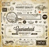 foto of certificate  - Vector set of calligraphic design elements - JPG