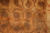 stock photo of rotten  - Abstract brown designed rotten wood texture background - JPG