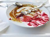 Постер, плакат: Пустая тарелка грязные после обеда