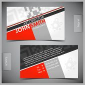 Vector abstractos creativos business cards (plantilla set)