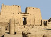 foto of ptolemaic  - The Temple of Horus at Edfu Egypt - JPG