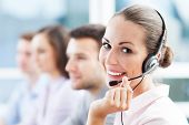 stock photo of telemarketing  - Call center team - JPG