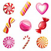 picture of bonbon  - Sweets and candies icons set - JPG