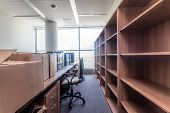 foto of leaving  - Shelves and paper boxes moving to new office building - JPG