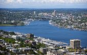 foto of view from space needle  - View of Puget Sound from Space needle - JPG