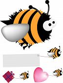 picture of bumble bee  - Detailed vector file fully editable and scaleable to any size can be easily recoloured - JPG