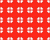 Seamless Hearts Pattern - Vector Image