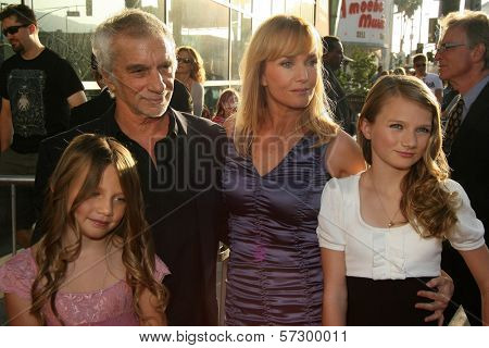 Rebecca De Mornay and family at the