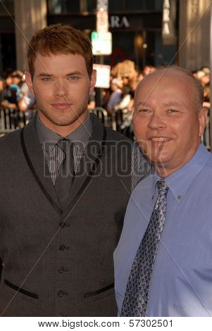 Kellan Lutz and father  at the