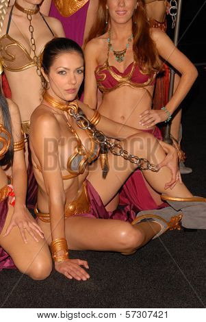 Adrianne Curry at the annual Slave Leia Group Photo at ComicCon, San Diego Convention Center, San Diego, CA. 07-23-10