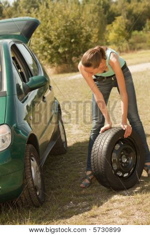 Tire Change On The Car