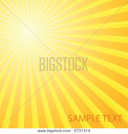 Abstract solar background. Vector illustration