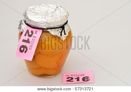 Prize winning jar of fruit