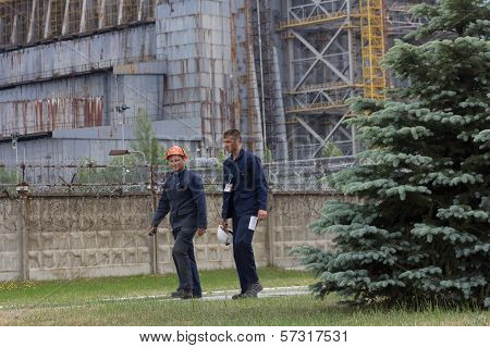 Edit:  Workers Leaving Chernobyl Nuclear Power Plant, Reactor #4