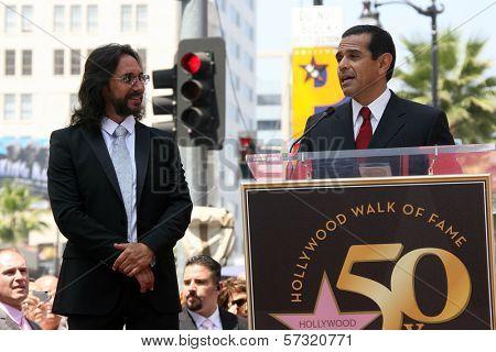 Marco Antonio Solis with Antonio Villaraigosa at the induction ceremony for Marco Antonio Solis into the Hollywood Walk David Edwards/DailyCeleb.com 818-249-4998of Fame, Hollywood, CA. 08-05-10