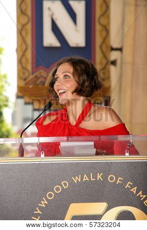Maggie Gyllenhaal  at the induction ceremony for Emma Thompson into the Hollywood Walk of Fame, Hollywood, CA. 08-06-10