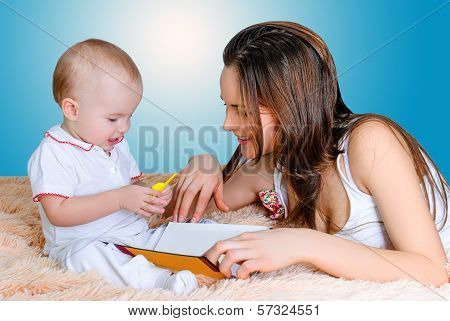 Mother Reading Bedtime Stories