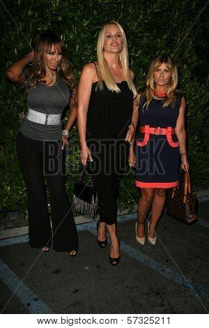 Traci Bingham and Gena Lee Nolin, Nicole Eggert at the Baywatch Reunion Dinner, XIV Restaurant,  West Hollywood, CA.  08-19-10
