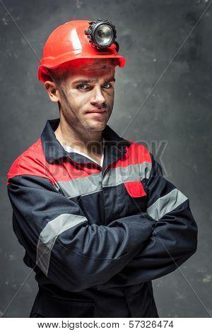 Portrait Of Coal Miner