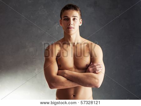 Portrait Of Muscular Young Man