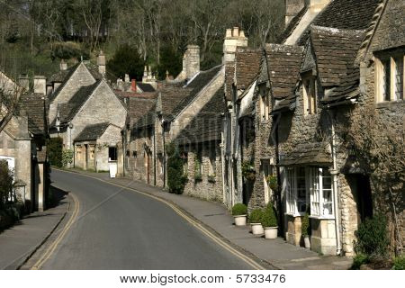 Castle Combe village main street