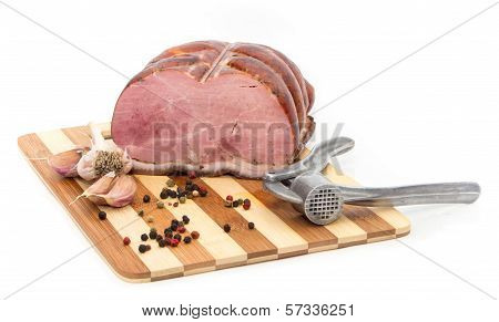 Pork on a cutting board