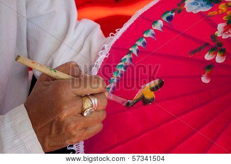 Umbrella Made of Paper Cloth Arts And Crafts