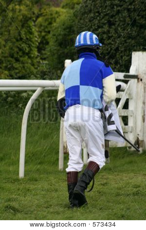 Jockey Walking