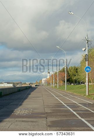 Promenade Alongside Northern Dvina River, Arkhangelsk, Russia
