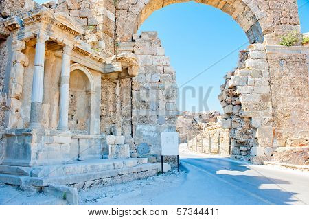 Ruins In Turkey, Arch Of White Stone