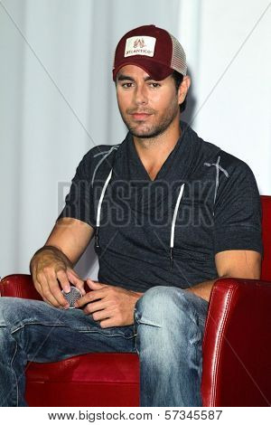 Enrique Iglesias at the Jennifer Lopez and Enrique Iglesias Summer Tour 2012 Press Conference, Blvd. 3, Hollywood, CA 04-30-12