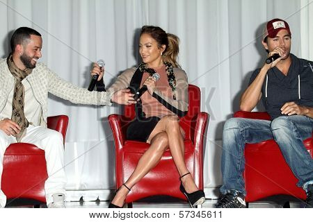 Yandel, Jennifer Lopez, Enrique Iglesias at the Jennifer Lopez and Enrique Iglesias Summer Tour 2012 Press Conference, Blvd. 3, Hollywood, CA 04-30-12