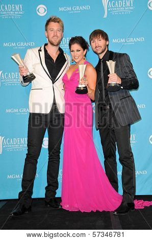 Lady Antebellum  at the 45th Academy of Country Music Awards Press Room, MGM Grand Garden Arena, Las Vegas, NV. 04-18-10