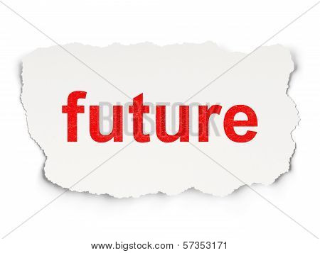 Time concept: Future on Paper background