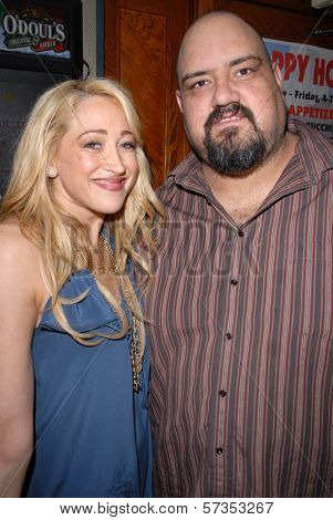 Jennifer Blanc-Biehn and Travis Romero at Jennifer Blanc-Biehn's Birthday Party, Sardos, Burbank, CA. 04-23-10