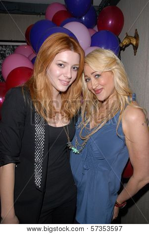 Elena Satine and Jennifer Blanc-Biehn at Jennifer Blanc-Biehn's Birthday Party, Sardos, Burbank, CA. 04-23-10