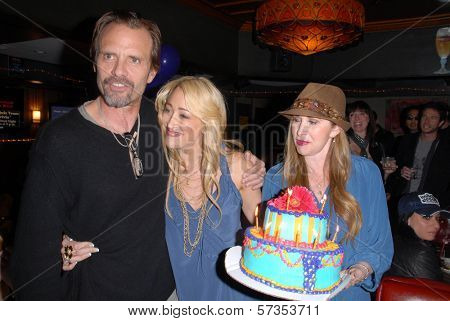 Michael Biehn, Jennifer Blanc-Biehn and Jenise Blanc at Jennifer Blanc-Biehn's Birthday Party, Sardos, Burbank, CA. 04-23-10