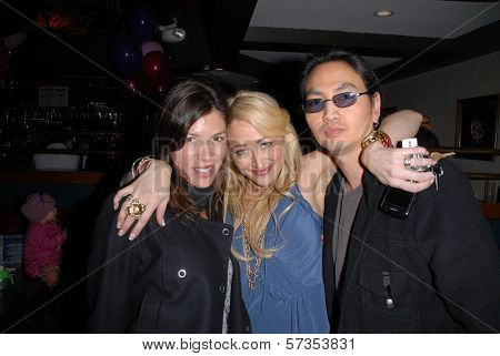 Caitlin Keats, Jennifer Blanc-Biehn and Jeehun Hwang at Jennifer Blanc-Biehn's Birthday Party, Sardos, Burbank, CA. 04-23-10