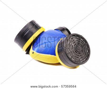 Closeup of gas mask.